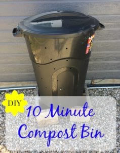 $10 and 10 minute compost bin DIY