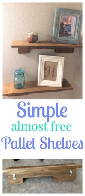 DIY $2 Pallet Shelves, $100 Bathroom redo.