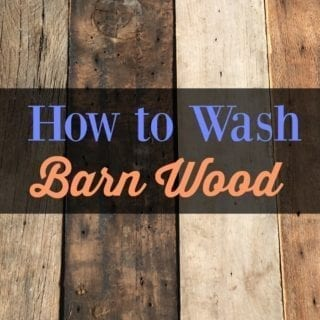 How to wash reclaimed Barn Wood