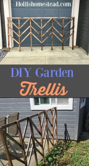 DIY Garden Trellis. Simple and inexpensive lattice for your garden plants.