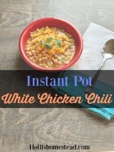 Instant Pot White Chicken Chili