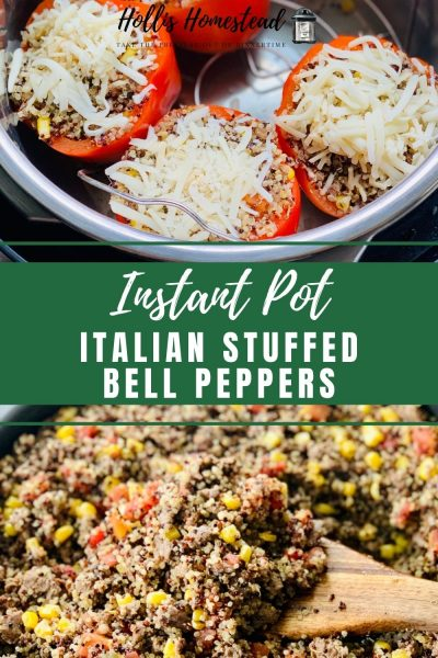 How to make Italian Stuffed Bell Peppers in the Instant Pot