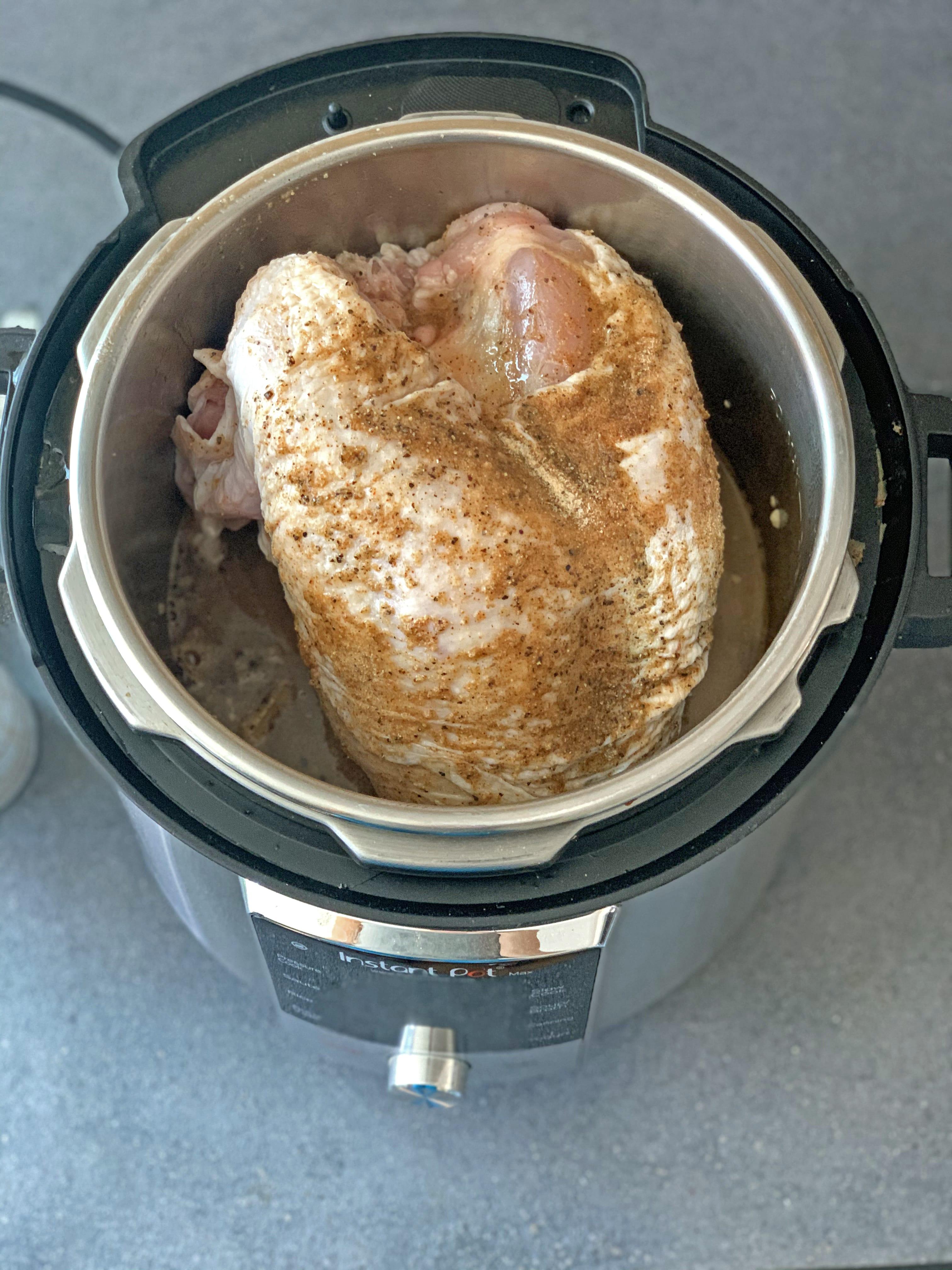 Cajun Instant Pot Turkey Breast in the instant pot