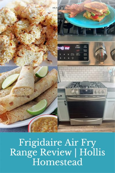 Frigidaire air fry range with ready cook air fry oven review. Air Fry shrimp, veggies, flautas, chicken.