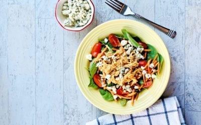 Instant Pot Buffalo Chicken Salads
