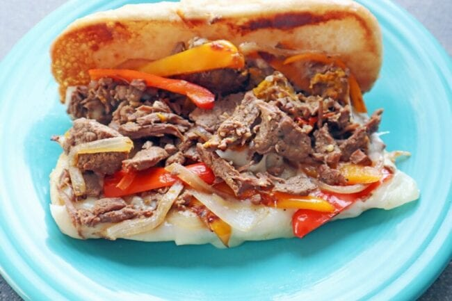 Philly cheesesteak Instant Pot recipe