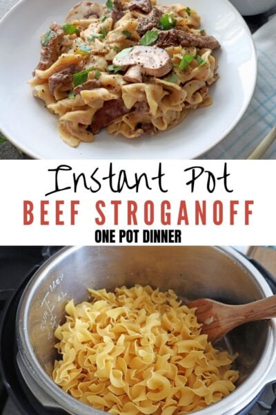 Instant Pot Beef stroganoff recipes Pinterest Pin
