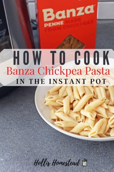 How to cook Banza in the Instant Pot Pinterest Image