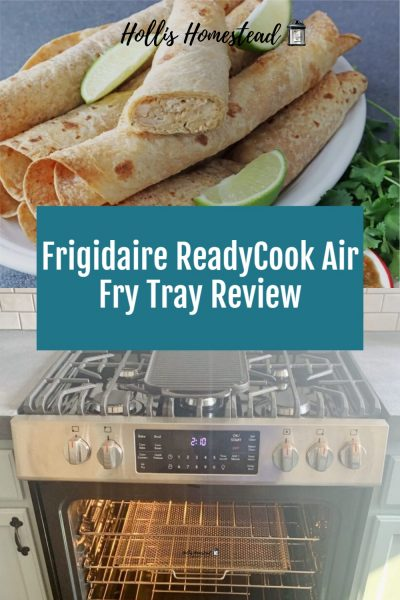 Frigidaire ReadyCook Air  Fry Tray and chicken flautas pinterest pin