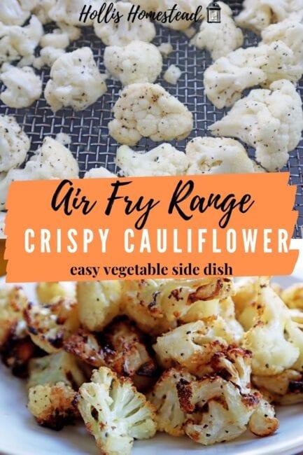 Frigidaire Air Fry Range Cauliflower Recipe