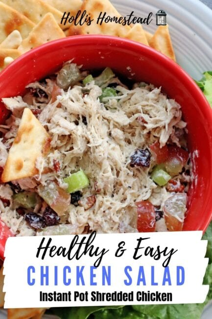 Instant Pot Chicken Salad recipe with grapes
