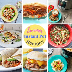 Photos of summer recipes for the Instant pot