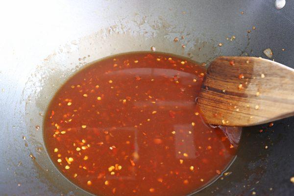Frigidaire Air Beijing Beef   sauce in a wok